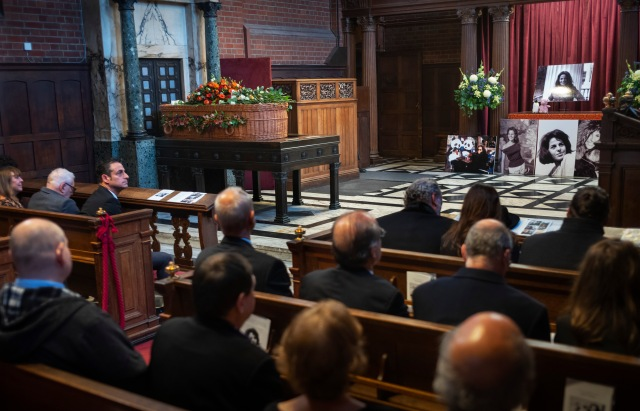 Sally Soames Funeral, Golders Green Crematorium 13 Oct 2019